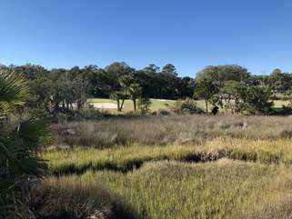 A beautiful day to take in the marsh view.