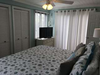 The Master Bedroom has two closets and a HDTV and DVD player.