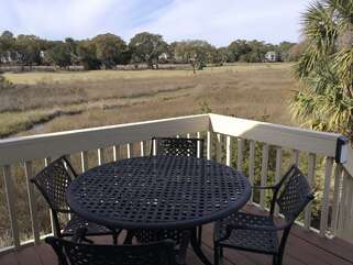 Enjoy meals on the deck while taking in the beautiful scenic views.
