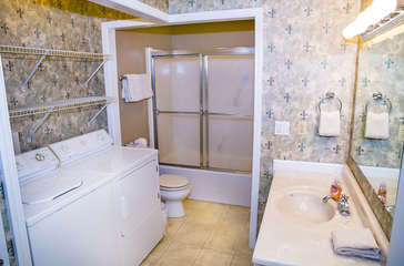 Guest bath with utilities