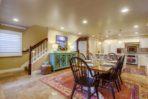 Dining Area in our San Diego Vacation Home