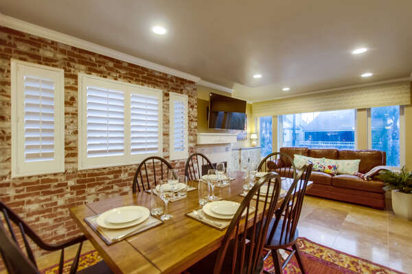 Dining Table Has Seating for Six Guests