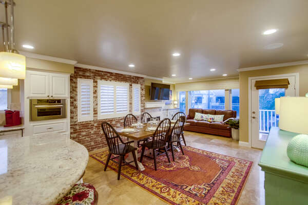 2nd Floor Dining Area in our San Diego Vacation Home
