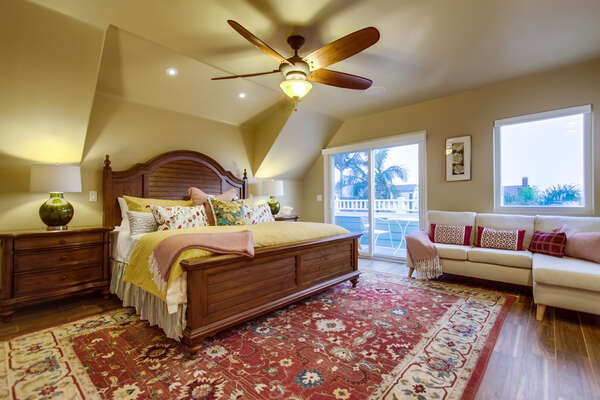 Master Suite with a King Bed in our San Diego Vacation Home