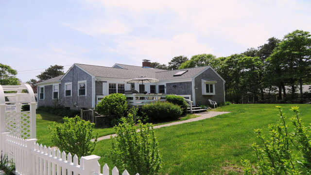 Fully fenced in year - great for kids to play and fido to run free! 142 George Ryder Road S- Chatham Cape Cod - New England Vacation Rentals