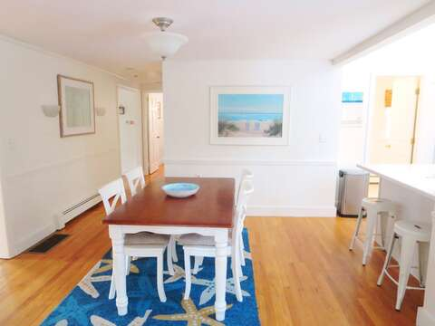 Dining table seats 6 and breakfast bar seats 2 - 142 George Ryder Road S Chatham Cape Cod - New England Vacation Rentals