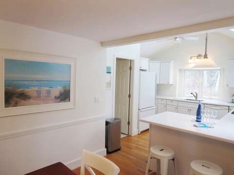 Breakfast bar has 2 stools - 142 George Ryder Road S Chatham Cape Cod - New England Vacation Rentals