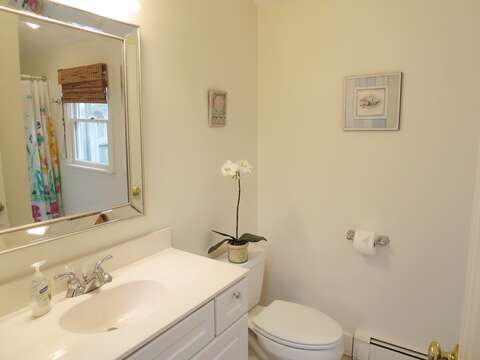 Full bath off kitchen - 142 George Ryder Road S Chatham Cape Cod - New England Vacation Rentals