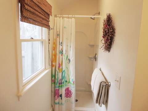Bath off kitchen with shower - 142 George Ryder Road S Chatham Cape Cod - New England Vacation Rentals