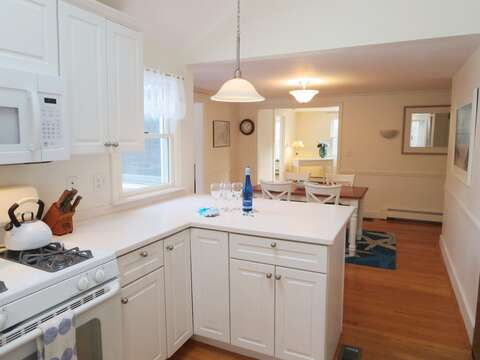 Gas stove in fully equipped kitchen with Dishwasher too- 142 George Ryder Road S Chatham Cape Cod - New England Vacation Rentals