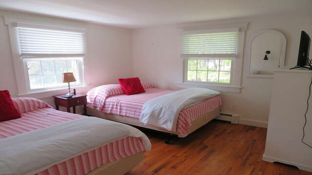 Bedroom 2 has two Double beds - 142 George Ryder Road S Chatham Cape Cod - New England Vacation Rentals