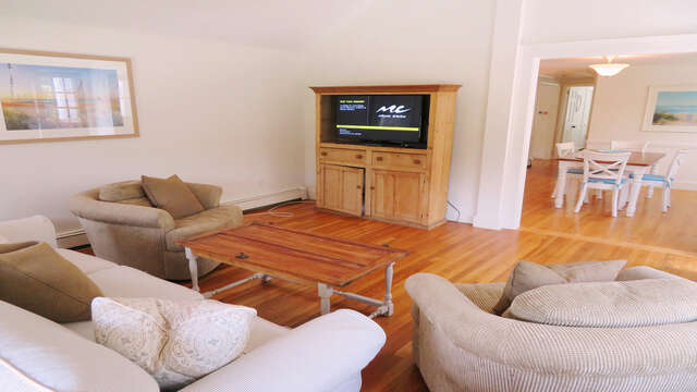Flat Screen TV and Wifi in Living room-142 George Ryder Road S Chatham Cape Cod - New England Vacation Rentals