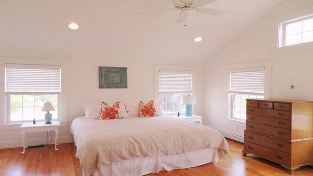 Master Bedroom with King bed - 142 George Ryder Road S Chatham Cape Cod - New England Vacation Rentals