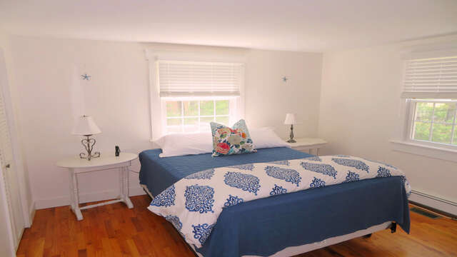 Bedroom 3 with a Queen Bed - 142 George Ryder Road S Chatham Cape Cod - New England Vacation Rentals