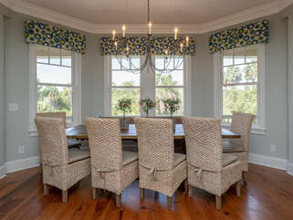 Beautiful views from dining area with seating for 10