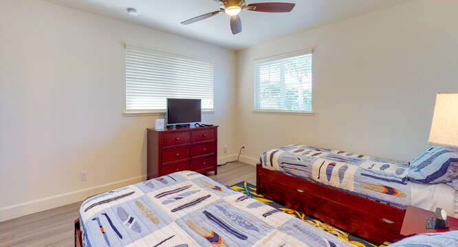 Third Bedroom Features Its Own Flat Screen TV