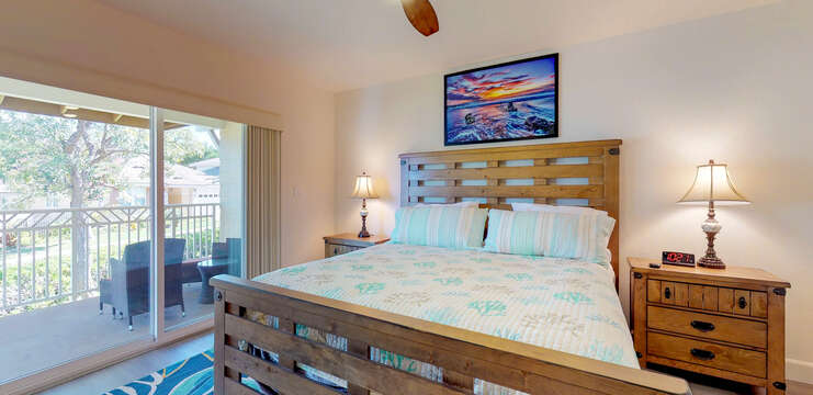 Master Bedroom with Private Lanai in our Ko Olina Vacation Rental