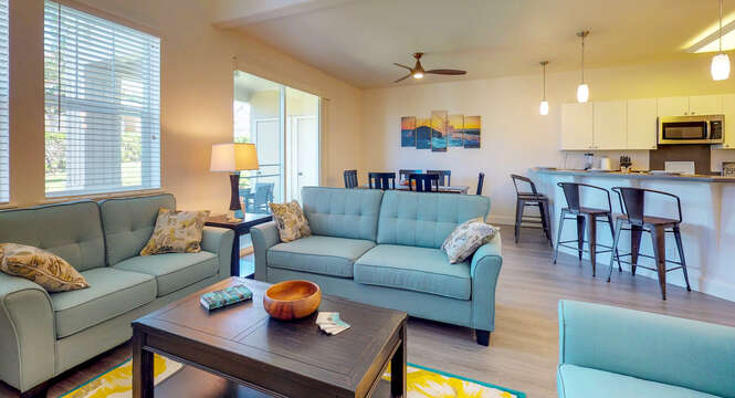 Comfortably Furnish Living Space in our Ko Olina Vacation Rental