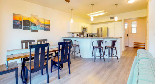 Dining Table and Breakfast Bar in our Ko Olina Vacation Rental