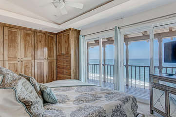Master Bed (King) with ocean views.