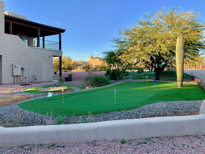 Another View of the Putting Green at our Scottsdale AZ Lodging