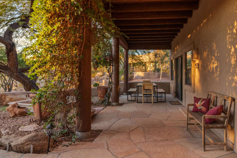 Patio and Seating Outside of Garden Casita Scottsdale AZ Lodging