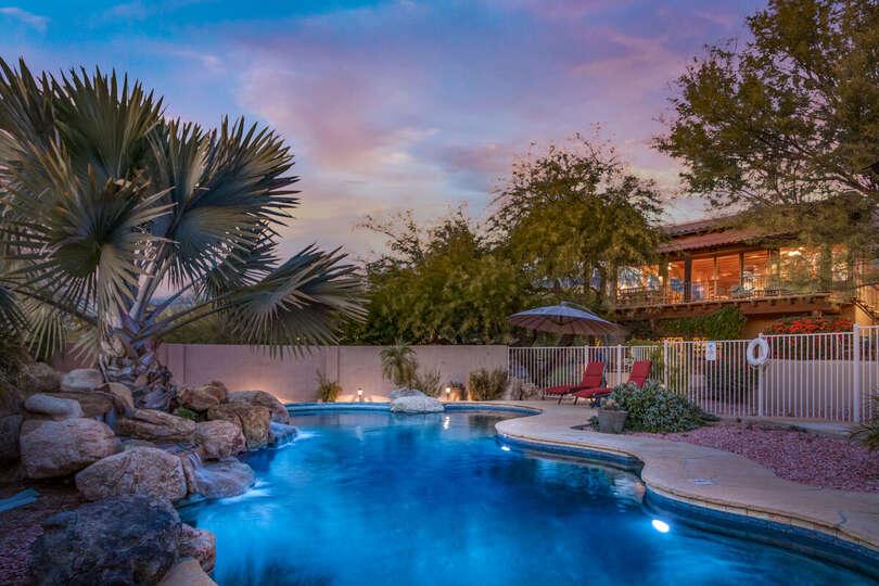 Enjoy beautiful Arizona nights with a dip in the pool.
