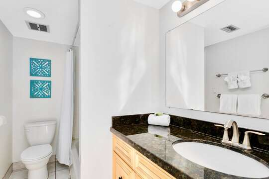 Bright and upgraded bathroom