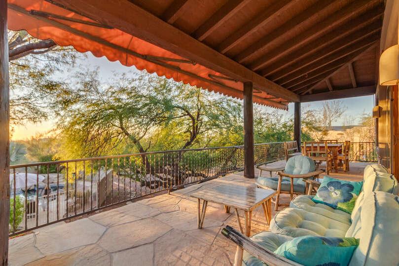 Watch the beautiful Arizona sunsets from the loft patio.