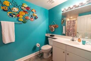 Bunk area full bathroom