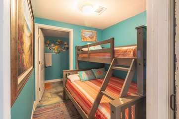 Bunk beds with full size on the bottom and twin size on the top