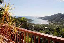 Views of Coral Bay from the villa