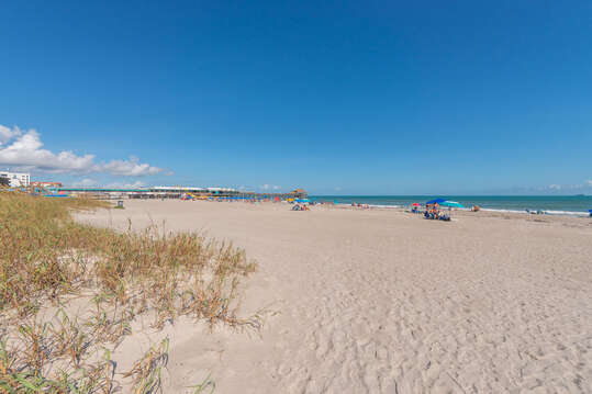 Beautiful white beachy sand.