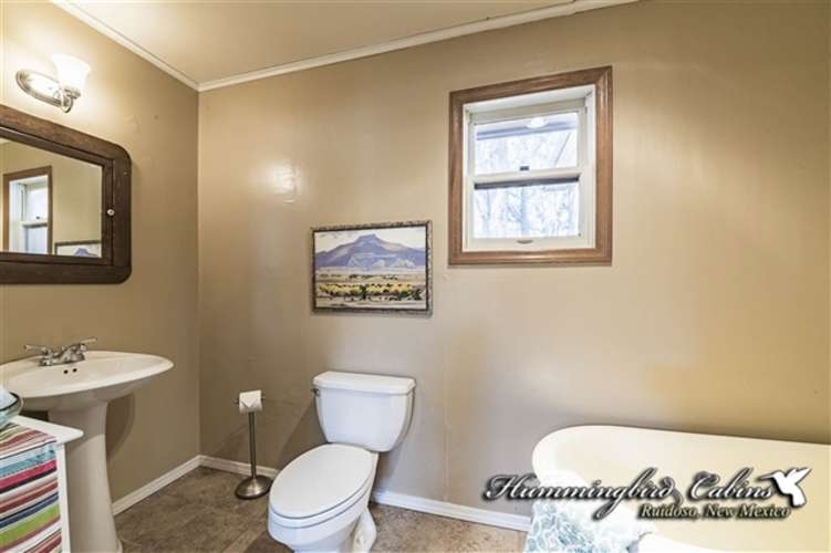 Main floor bath with claw foot tub (No shower in this bathroom)