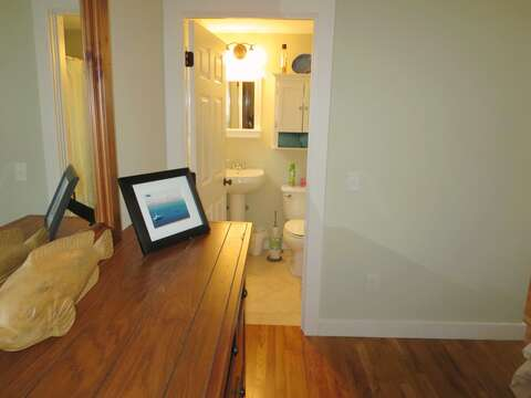 View to master bedroom's en suite bathroom - 33 Pine Grove West Harwich Cape Cod -  New England Vacation Rentals