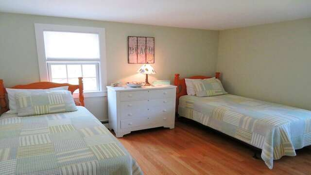 Bedroom # 3 with 2 Twins - 33 Pine Grove West Harwich Cape Cod -  New England Vacation Rentals
