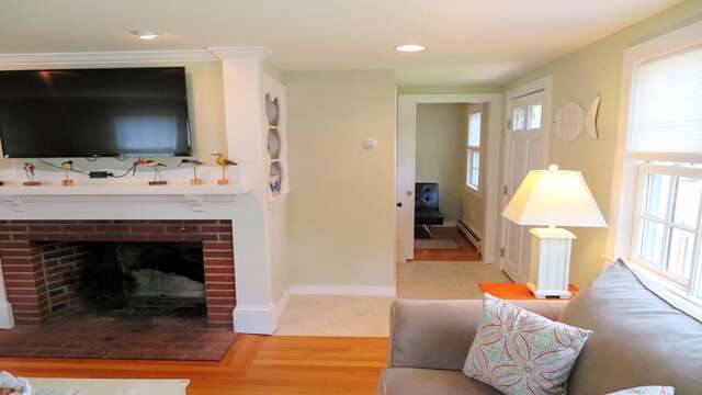 Entry to small kids TV room, 2nd bathroom, and 2 Bedrooms - 33 Pine Grove West Harwich Cape Cod -  New England Vacation Rentals