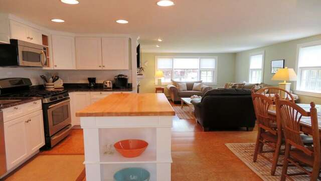 Fully equipped chef's kitchen - open living concept33 Pine Grove West Harwich Cape Cod -  New England Vacation Rentals