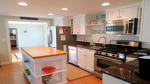 Enter into the kitchen from the sun room 33 Pine Grove West Harwich Cape Cod -  New England Vacation Rentals
