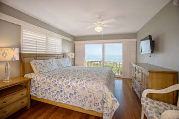 Another image of the master suite overlooking the gulf.