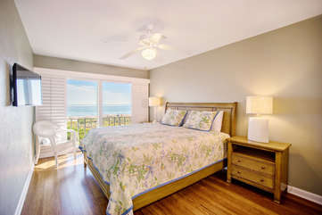 Guest room two with more stunning direct gulf front views overlooking the water.