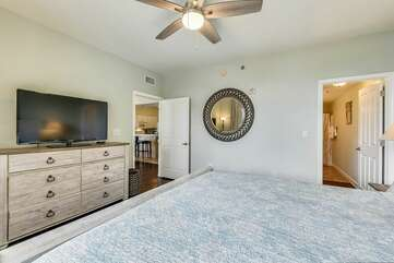 Master bedroom includes flat screen TV