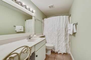 Refreshing master bathroom includes all your amenities