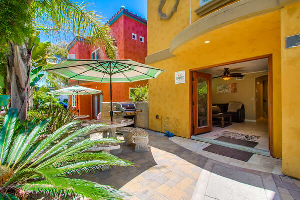 Ground floor entrance to this rental in san diego ca