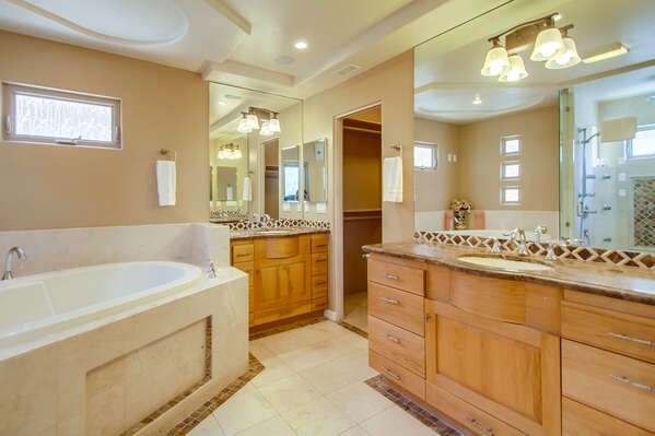 Master en suite on 3rd Floor with large tub