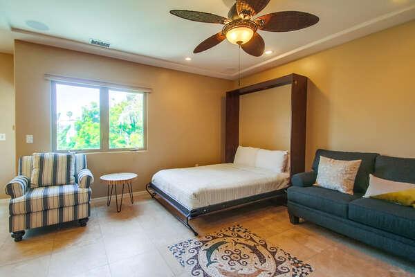Living Room on the Second Floor with Queen Murphy Bed
