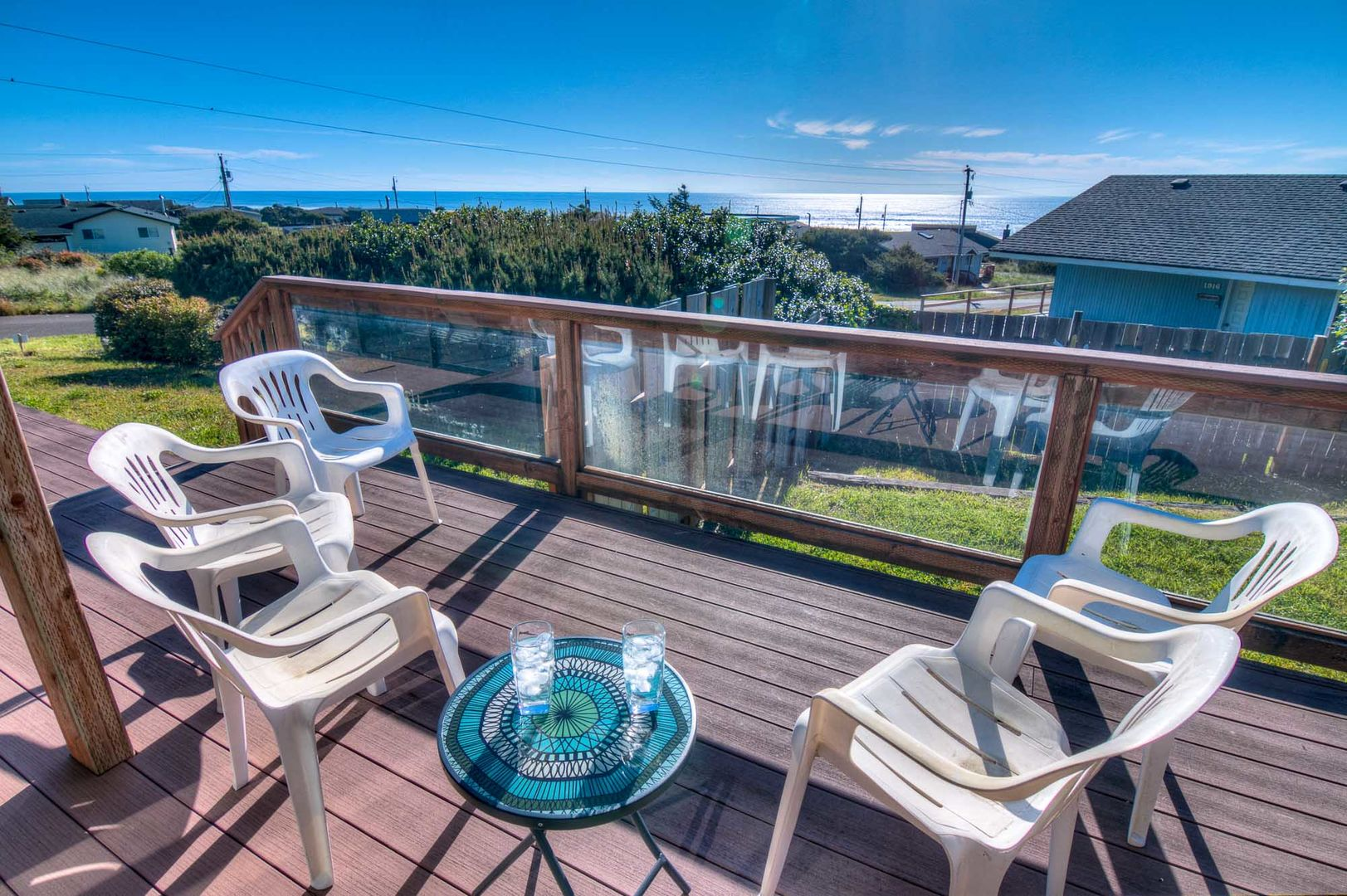 Relax on the deck and watch the different moods of the ocean.