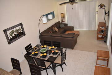 Aerial View of the Living Area from the Loft at Waikoloa Fairways Hawaii Rental
