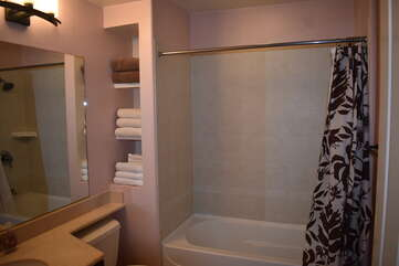 Bathroom with Shower/Tub Combo and Vanity