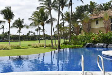 Fairway Villas Swimming Pool with Gorgeous Views of the Palm Trees